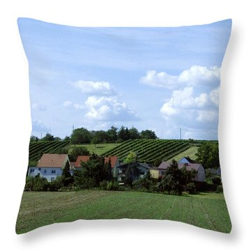 Countryside Throw Pillow by Haleh Mahbod