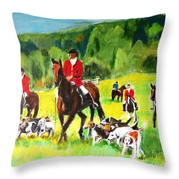 Countryside Hunt Throw Pillow