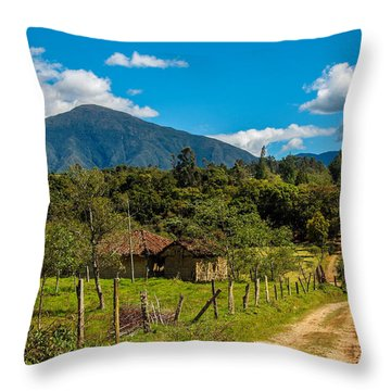 Countryside In Boyaca Colombia Throw Pillow by Jess Kraft