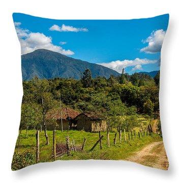 Countryside In Boyaca Colombia Throw Pillow by Jess Kraft