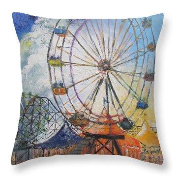County Fair Throw Pillow by Gary Smith