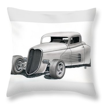 Couparossa Throw Pillow by Rick Bennett