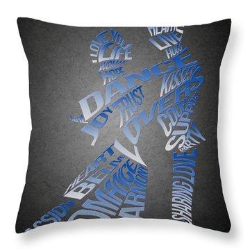 Couple Love Typography Throw Pillow by Georgeta Blanaru