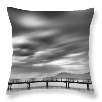Couple On A Bridge Throw Pillow