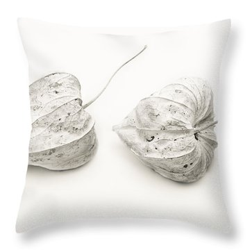 Couple Physalis Throw Pillow by Sviatlana Kandybovich