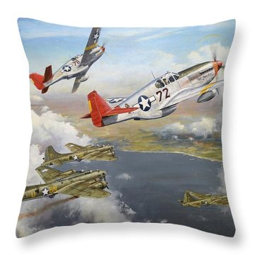 Courage Has No Colour Throw Pillow by Colin Parker
