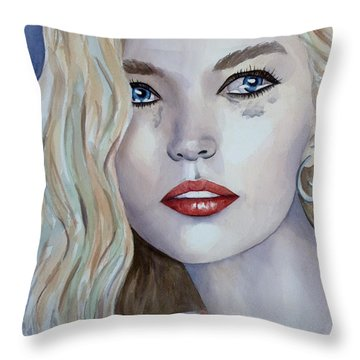 Courage To Cry Throw Pillow