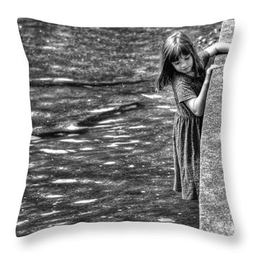 Courageous Child Throw Pillow