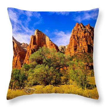 Throw Pillow featuring the photograph Court Of The Patriarchs by Greg Norrell
