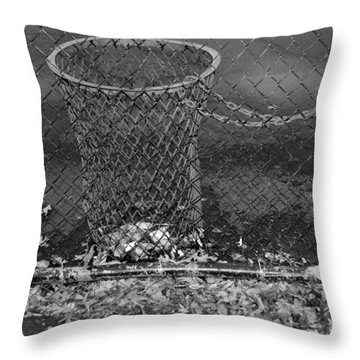 Court Trash In Black And White  Throw Pillow by Rob Hans