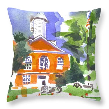 Courthouse Abstractions Throw Pillow by Kip DeVore