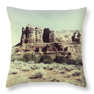 Courthouse Butte I Throw Pillow