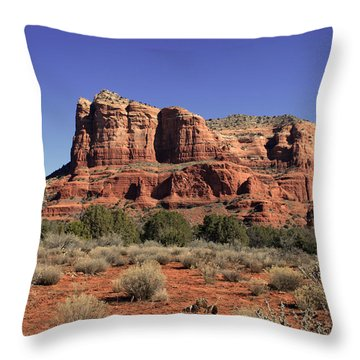 Courthouse Butte II Throw Pillow