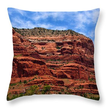 Courthouse Butte Rock Formation Sedona Arizona Throw Pillow by Amy Cicconi