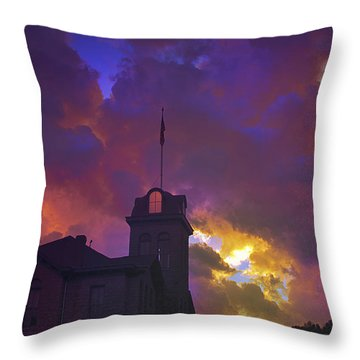 Courthouse Throw Pillow by Kat Besthorn