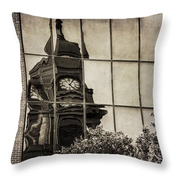 Courthouse Reflections Throw Pillow
