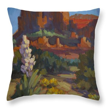 Courthouse Rock Sedona Throw Pillow