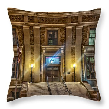 Courthouse Steps Throw Pillow by Paul Freidlund