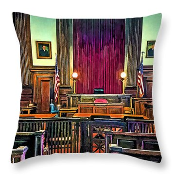 Courtroom Throw Pillow