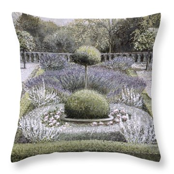 Courtyard Garden Throw Pillow by Ariel Luke