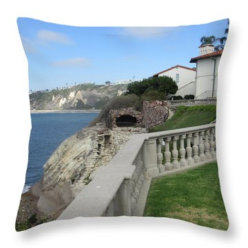 Courtyard On The Cliffs Throw Pillow