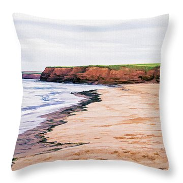 Cousins Shore Prince Edward Island Throw Pillow by Edward Fielding