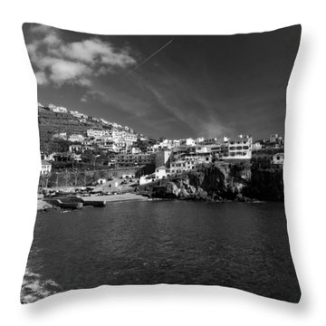 Cove In Black And White Throw Pillow