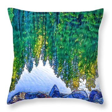 Cove Reflections-2 Throw Pillow