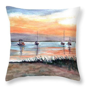 Cove Sunrise Throw Pillow