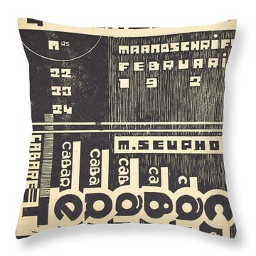 Cover For The Magazine Het Overzicht Throw Pillow