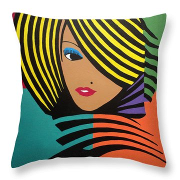 Cover Girl II Throw Pillow