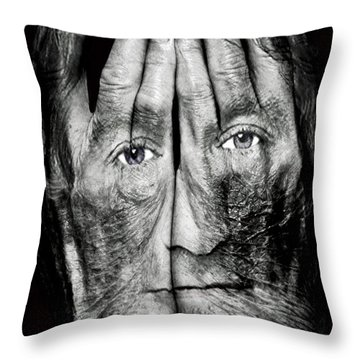 Cover Thy Faces Throw Pillow by Gary Keesler