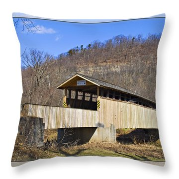 Covered Bridge In Pa. Throw Pillow