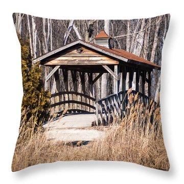 Covered Bridge Throw Pillow by Patrick Shupert