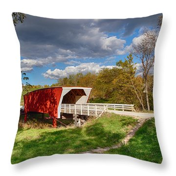 Covered Bridge Throw Pillow by Sennie Pierson