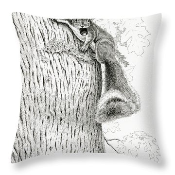 Coveting Nuts Throw Pillow