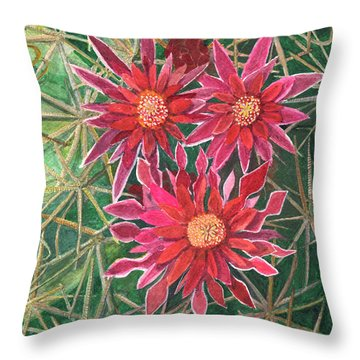 Coville Barrel Blossoms Throw Pillow