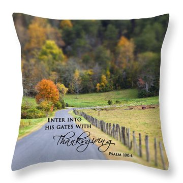 Cow Pasture With Scripture Throw Pillow