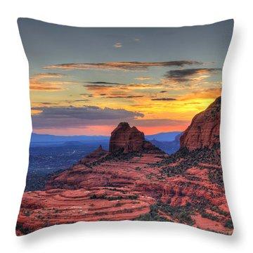 Cow Pies Sunset Throw Pillow
