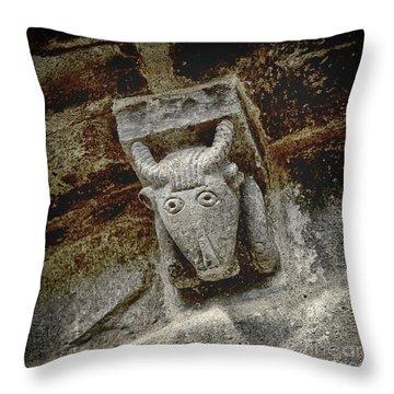 Cow Representation Throw Pillow by Bernard Jaubert