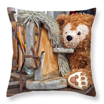 Throw Pillow featuring the photograph Cowboy Bear by Thomas Woolworth