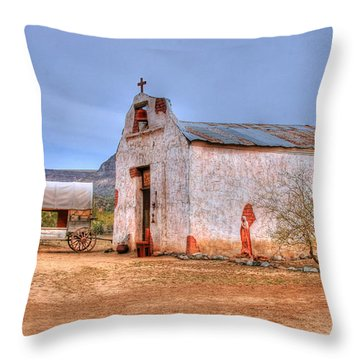 Cowboy Church Throw Pillow