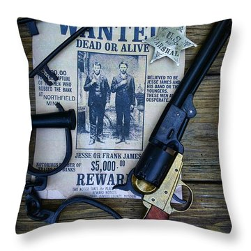 Cowboy - Law And Order Throw Pillow by Paul Ward