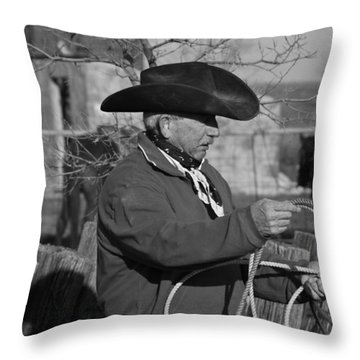 Cowboy Signature 14 Throw Pillow by Diane Bohna