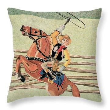 Cowboy Windup Throw Pillow