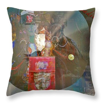 Cowgirl Cadillac Throw Pillow
