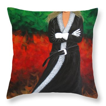 Cowgirl Throw Pillow by Lance Headlee