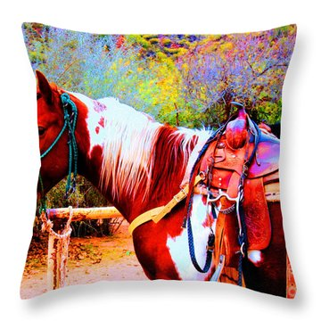 Cowgirl Up Throw Pillow