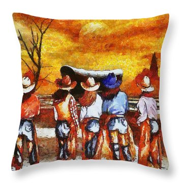 Cowgirls Delight Throw Pillow by Tyler Robbins
