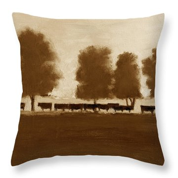 Cowherd Throw Pillow